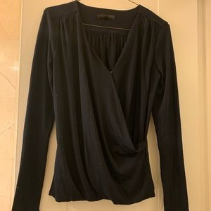 NWT Navy BR Wrap top XS